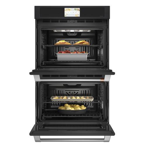 """Café 30"""" Built-In Convection Double Wall Oven Matte Black"""
