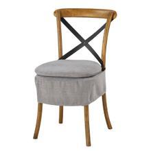 See Details - Short X-back Cushion (washable Gray)