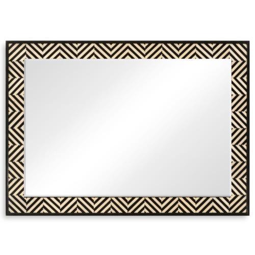 Classic Julian Herringbone mirror (Ebony and Ivory)