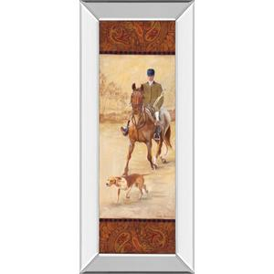 """""""On The Hunt Il"""" By Linda Wacaster Mirror Framed Print Wall Art"""