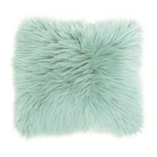 "Fur Fl101 Seafoam 1'10"" X 1'10"" Throw Pillow"