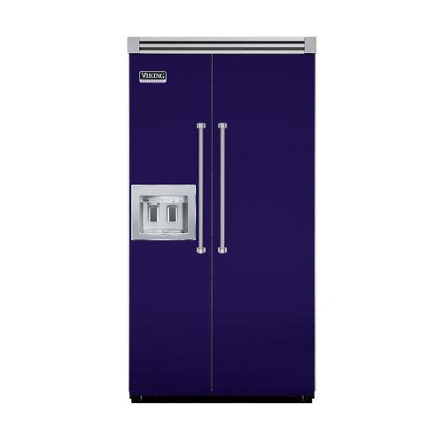 "Viking - Cobalt Blue 42"" Quiet Cool™ Side-by-Side with Dispenser - VISB Tru-Flush™ (42"" wide)"
