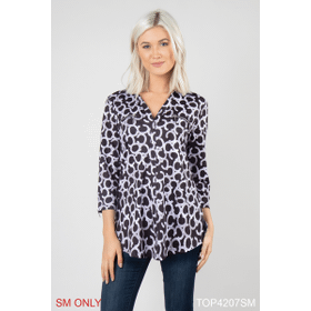 Unchained Zip Me Up Print Top - S/M (4 pc. ppk.)