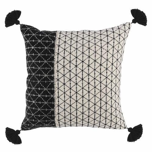 See Details - Bakari Black Ivory Pillow