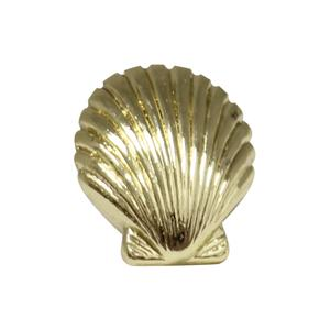 Solid brass seashell-shaped knob. Product Image