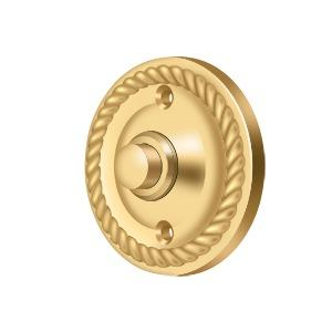 Deltana - Bell Button, Round with Rope - PVD Polished Brass