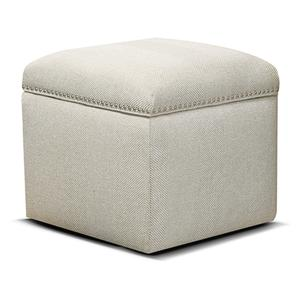 England Furniture2F0081N Parson Storage Ottoman with Nails