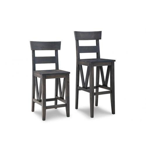 """Chattanooga 30"""" Bar Chair With Leather Seat"""