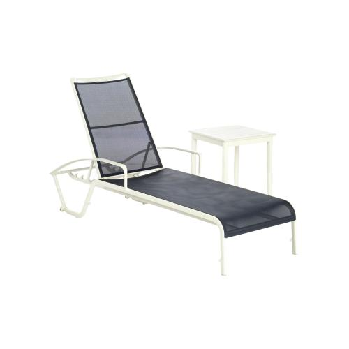 Maribo Aluminum Sling Chaise with arm