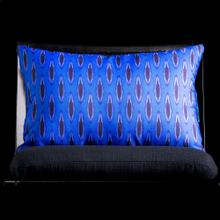 BLUE IKAT LUMBAR PILLOW  3in X 20in  Blue Ikat Pillow. Vibrant colors and bold pattern choices fro