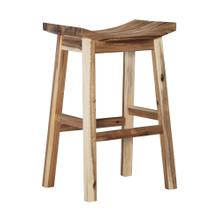 Saddle Barstool, Light Natural