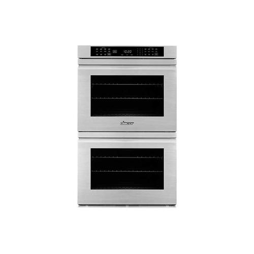 "27"" Double Wall Oven, Silver Stainless Steel with Flush Handle"