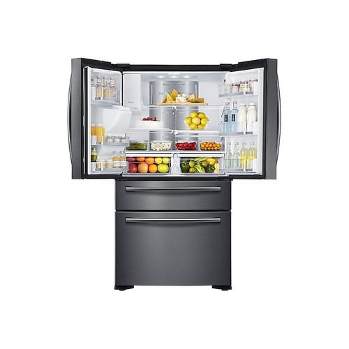 22 cu. ft. Family Hub Counter Depth 4-Door Flex Refrigerator in Black Stainless Steel