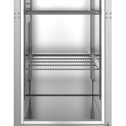 R1A-HS, Refrigerator, Single Section Upright, Half Stainless Doors with Lock
