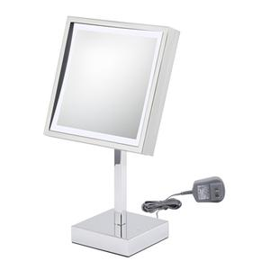 Kimball & Young - Chrome Square Lighted Free Standing Mirror