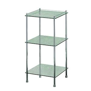 Essentials Freestanding Three Tier Glass Shelf Unit Product Image