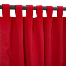 See Details - Sunbrella Canvas Jockey Red Outdoor Curtain with Tabs