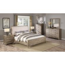 Emerald Home 6 Piece Set Torino Weathered Brown King Bed, Dresser, Mirror, Chest, and 2 Nightstands