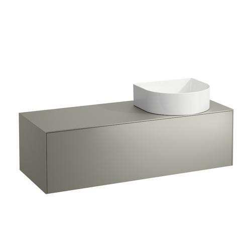 White Matte & Nero Marquina Drawer element, 1 drawer, matching bowl washbasins 812340, 812341, 812342, 812343, cut-out right