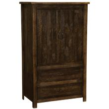 Two Drawer Wardrobe - Barn Brown - Premium