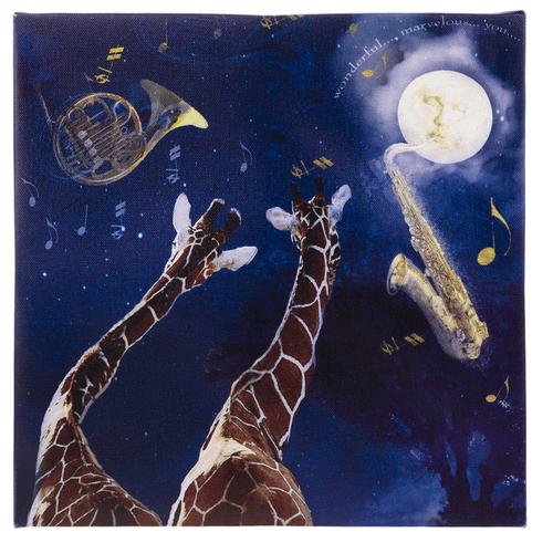 Light Up Wall Plaque - Giraffes