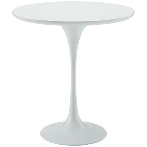 """Modway - Lippa 20"""" Wood Side Table in White"""