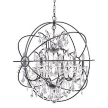 6 Light Chandelier in Black Finish