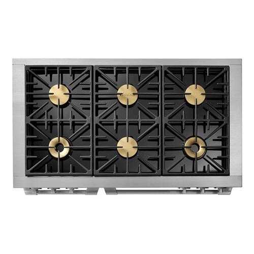 "48"" Gas Pro Range, Silver Stainless Steel, Natural Gas/High Altitude"