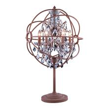See Details - Geneva 6 light Rustic Intent Table Lamp Silver Shade (Grey) Royal Cut crystal