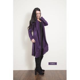 WB Long Cord/Lace Jacket - Purple (2 pc. ppk.)