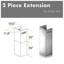 "ZLINE 2-36"" Chimney Extensions for 10 ft. to 12 ft. Ceilings (2PCEXT-696)"