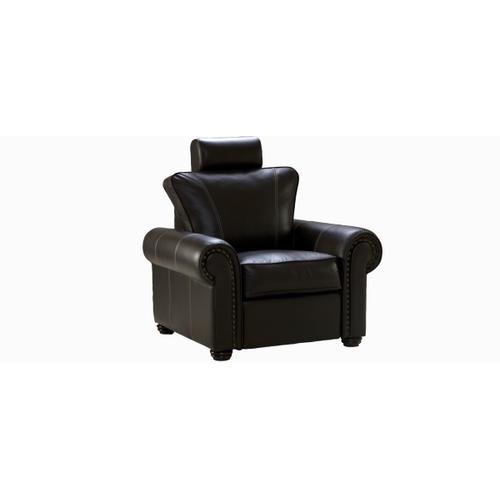"Jaymar - Felix Accent chair / Motion with decorative nails 5/8"" (#54) Antique Gold."