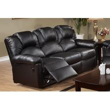 Izem Reclining/motion Loveseat Sofa or Recliner, Black-bonded-leather