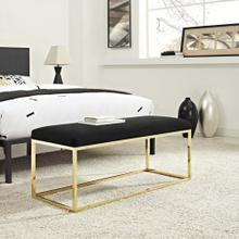 Anticipate Fabric Bench in Gold Black