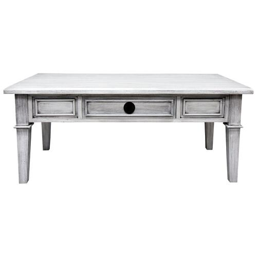 Coffee Table, Available in Distressed White or Distressed Grey Finish.