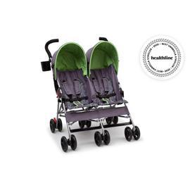 LX Side by Side Stroller - Purple & Green (001)