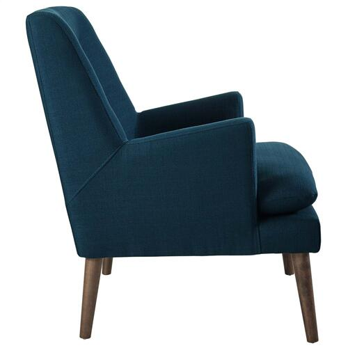 Leisure Upholstered Lounge Chair in Azure