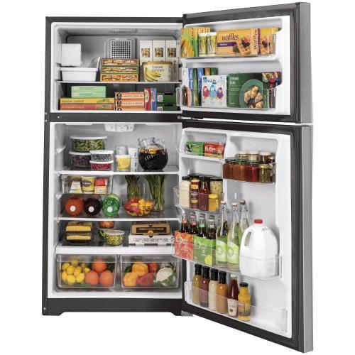 GE Appliances - GE® ENERGY STAR® 19.1 Cu. Ft. Top-Freezer Refrigerator