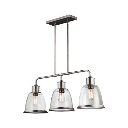 Hobson Linear Chandelier Satin Nickel