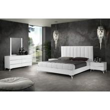 Nova Domus Angela - Italian Modern White Eco Leather Bedroom Set