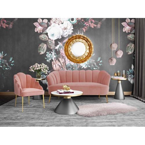 Daisy Petite Blush Velvet Chair