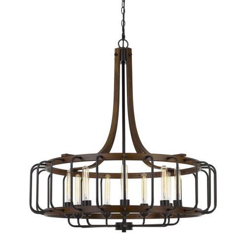 Cal Lighting & Accessories - Kellia 60W X 9 Metal Chandelier (Edison Bulbs Not included)