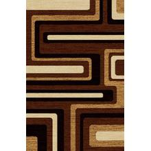 "Durable Flat Weave No Shedding Lifestyle 1000 Area Rug by Rug Factory Plus - 2' x 7'5"" / Brown"