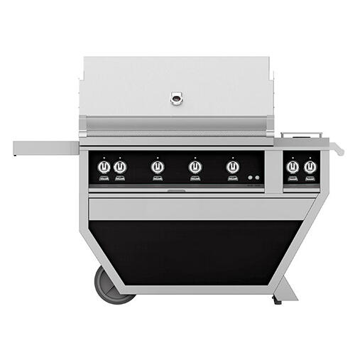 "42"" Hestan Outdoor Deluxe Grill with Double Side Burner - G_BR__CX_ Series - Stealth"