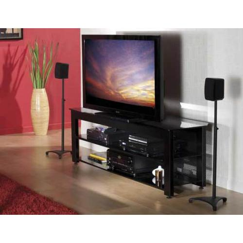Product Image - Black Three-shelf Widescreen Lowboy Rigid strength and contemporary design in an affordable package