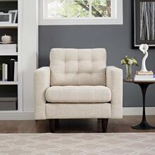 View Product - Empress Upholstered Fabric Armchair in Beige