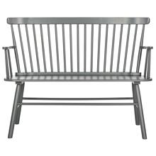 Addison Spindle Back Settee - Grey