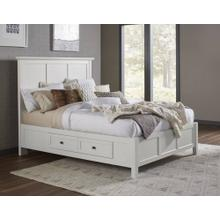 Paragon Queen Storage Bed with White Finish