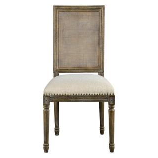 See Details - Square Maxwell Side Chair W/ Cane(french Linen)