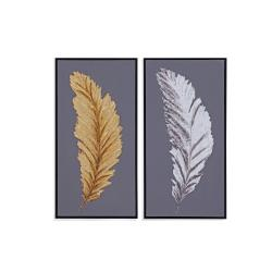 Silver and Gold Feathers (S/2)